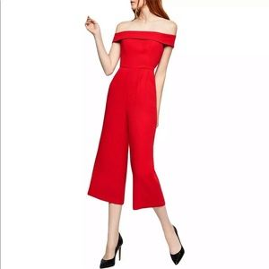 BCBG Red Jumpsuit